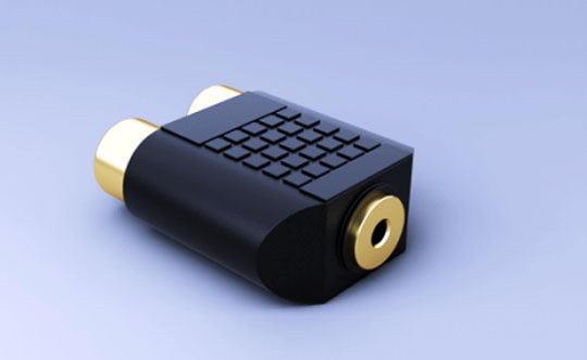 Mini Jack Converter 3D Model