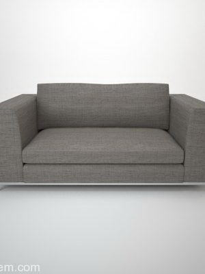 Minotti Double Sofa 3D Model