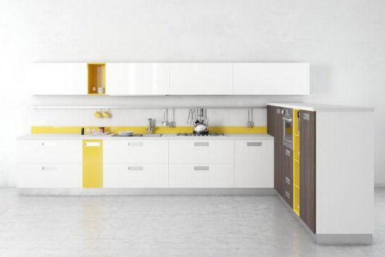 Modern Design Kitchen 3D Model - Free C4D Models