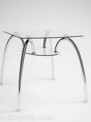 Modern Glass Coffee Table 3D Model
