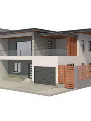 Modern House Exterior Scene