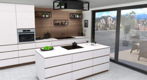 Modern Kitchen with Terras 3D Model