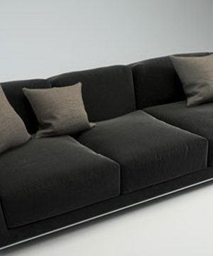 Modern Leather Sofa 3D Model