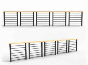 Modern Railing for Balcony Free 3D Model
