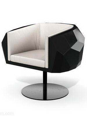 Modern Rotating Base Armchair 3D Model