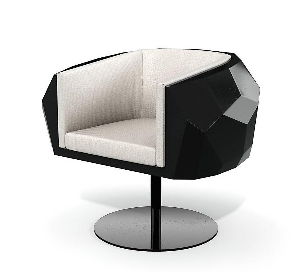 Modern Rotating Base Armchair 3D Model