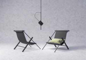 Modern Sling Lounge 3D Model