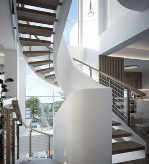 Modern Spiral Staircase 3D Model