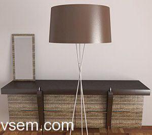 Modern Style Floor Lamp 3D Model