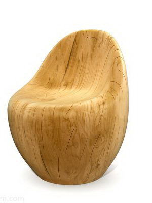 Modern Style Wooden Armchair
