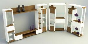 Modern Tv Station Furniture Set 3D Model