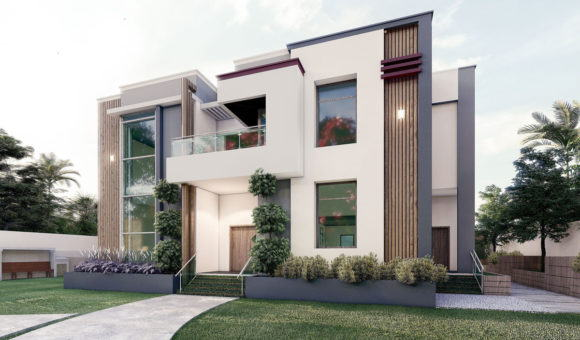 Modern Villa House Exterior 3D Model
