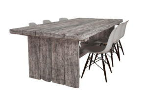 Modern Wooden Table and Chairs