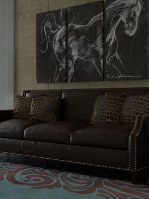 Modern Living Room Scene for Cinema 4D