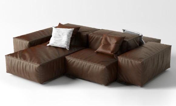 Modular Sofa 3D Model