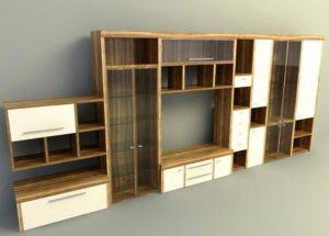 Modern Wood Cabinet Free 3D Model