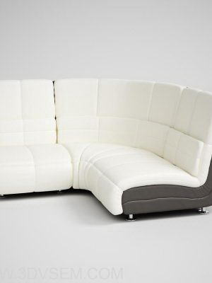 Office Corner Sofa 3D Model