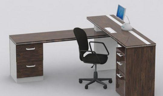 Office Desk Furniture 3D Model - Free C4D Models