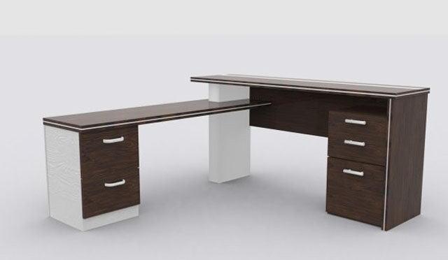 Office Desk Furniture 3D Model