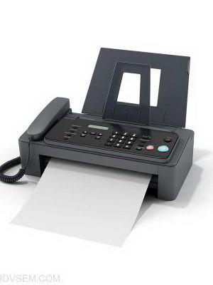 Office Fax 3D Model