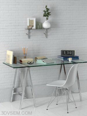 Office Furniture 3D Model Pack 18