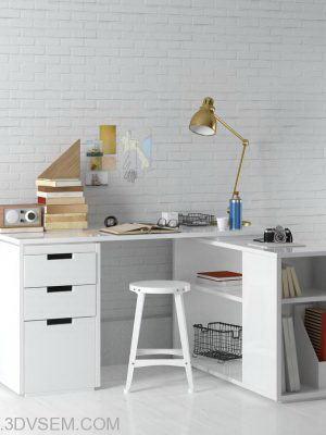 Office Furniture 3D Model Pack 21