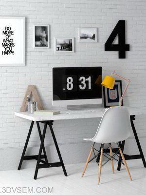 Office Furniture 3D Model Pack 3