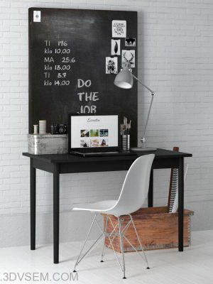 Office Furniture 3D Model Pack