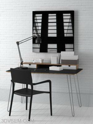 Office Furniture 3D Model Pack 6