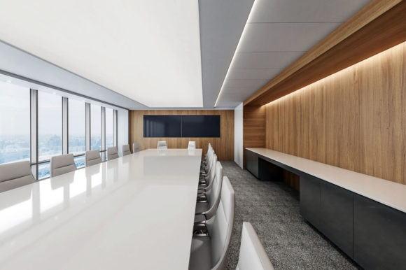 Office Meeting Room 3D Interior Scene