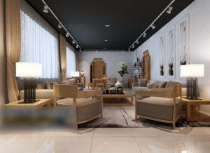 Office Resting Area Free 3D Interior Scene