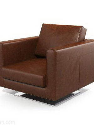 Office Type Leather Armchair