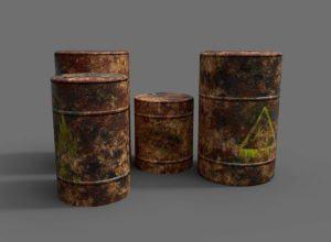 Old Barrels Free 3D Models