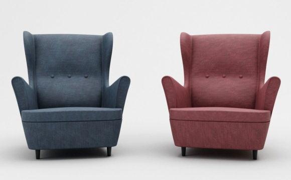 Old Design Armchair 3D Model