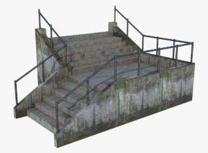 Old Dirty Stairs 3D Model