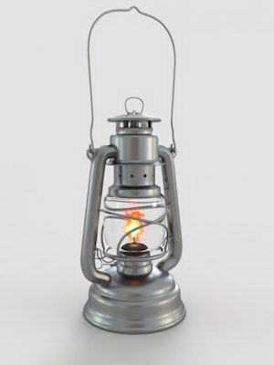 Old Gas Lamp 3D Model