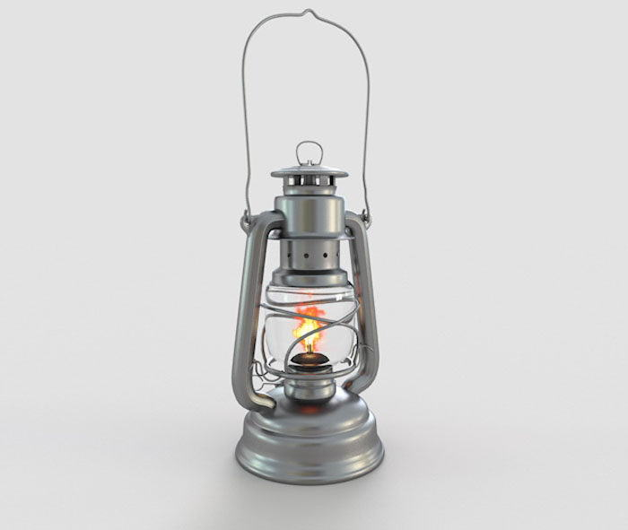 Old Gas Lamp Model Free C4d Models