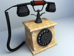 Old Marble Phone 3D Model