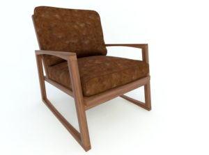 Old Model Armchair Free 3D Model