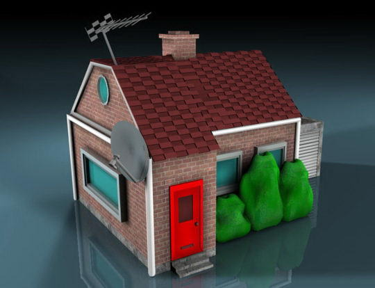 Old Small House 3D Model - C4D Download