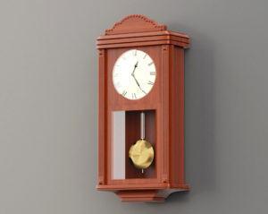 Old Wall Clock 3D Model