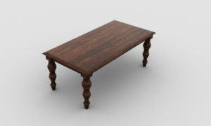 Old Wood Table 3D Model