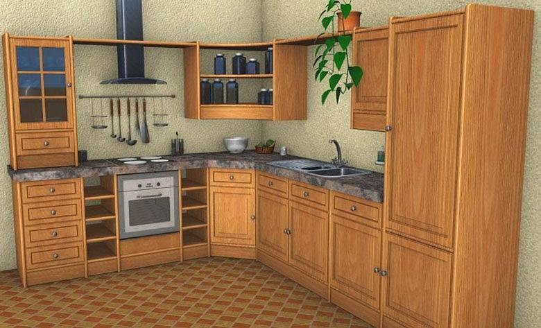 Old kitchen scene 3d model