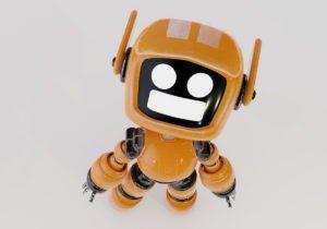 Orange Robot 3D Model