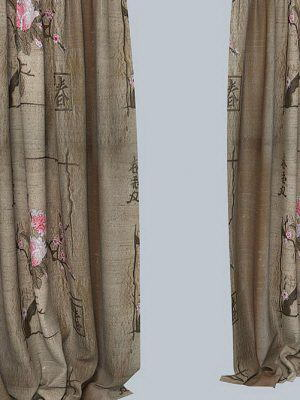Oriental Style Curtain 3D Model