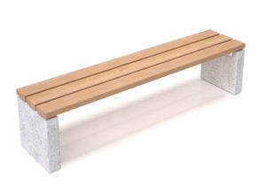 Outdoor Bench Free 3D Model