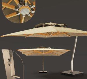 Outdoor Luxury Umbrella 3D Model
