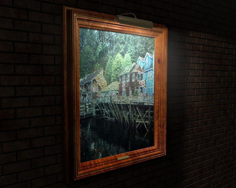 Picture Frame On The Wall 3D Model