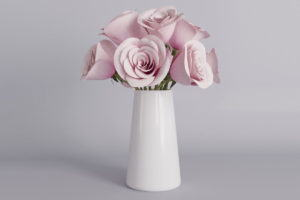 Pink Roses with Flower Pot 3D Model