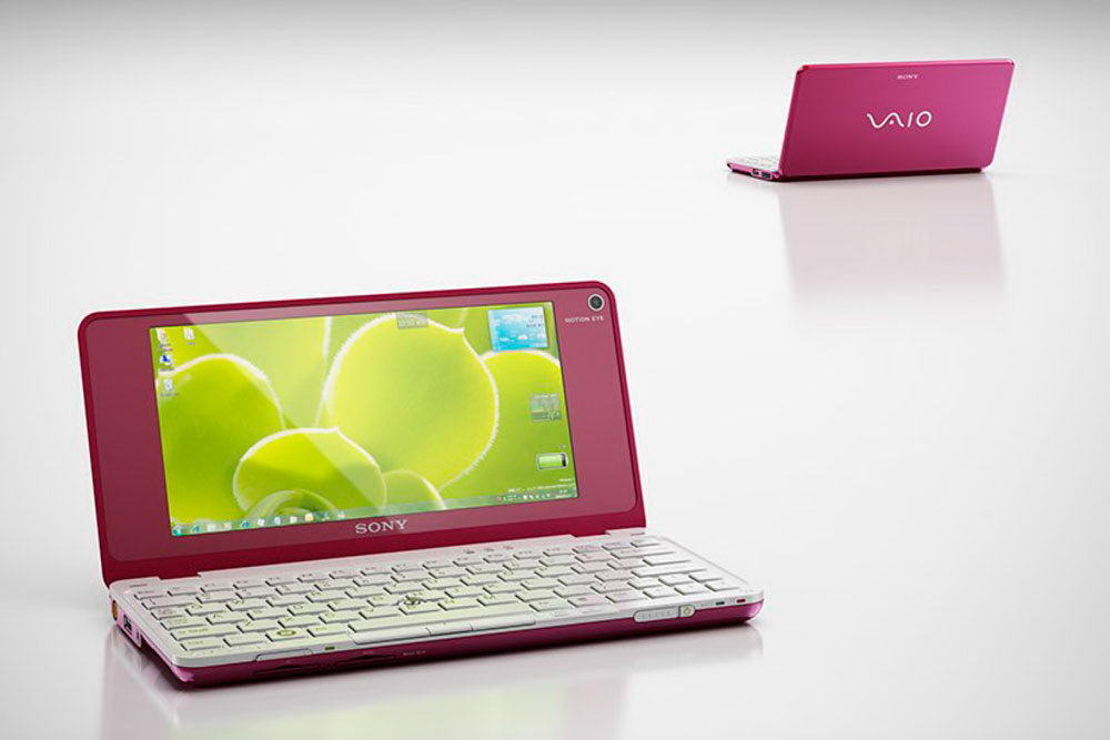 Pink Sony Vaio Netbook 3D Model